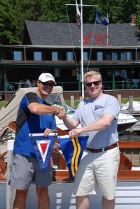The GPYC / WYC burgee swap