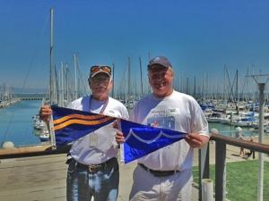 South Beach Yacht Club and Great Pond Yacht Club Burgee Swap