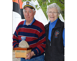 Bill and John Witkin holding the Witkin Cup trophy.