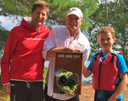 Dale Beach and Carter Knight win the Milfoil Regatta trophy