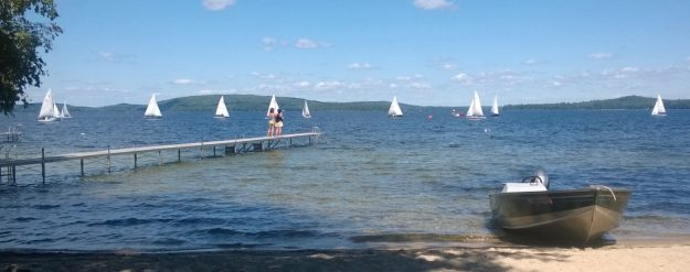 15 Sailboats from Camp Runoia shoreline