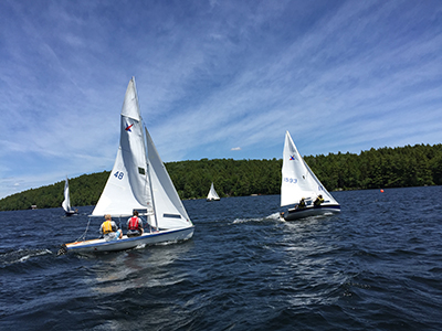 GPYC's Rasta Race - four sailboats on the water