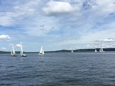 GPYC's Hurricane Cup 2015 boats on the water